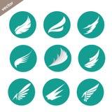 Vectorgroep vleugels in de cirkel stock illustratie