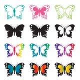 Vectorgroep vlinder Stock Foto