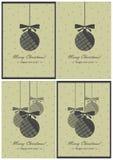 Vectorgroetkaarten. Kerstmis en Nieuwjaar Royalty-vrije Stock Afbeeldingen