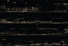 Vectorgrunge gouden houten die textuur op zwarte wordt geïsoleerd De gouden achtergrond van de patinakras vector illustratie