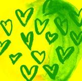 Vectorgrungehart, Valentine-dag, element van het illustratie het uitstekende ontwerp Stock Afbeelding