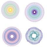 Vectorguilloche vastgestelde rozet Stock Afbeelding