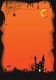 Vectorhalloween-sinaasappel als achtergrond Royalty-vrije Stock Afbeeldingen