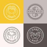 Vectorhand - gemaakte etiketten en kentekens Royalty-vrije Stock Foto's