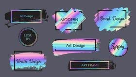 Vectorhand getrokken artistiek ontwerpelement, vakje, kader of achtergrond voor tekst royalty-vrije illustratie