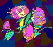 Vectorhand getrokken bloemen stock illustratie