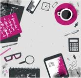 Vectorhand getrokken freelance illustratie, model met tekstruimte Stock Foto's