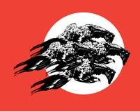 Vectorhand getrokken geïsoleerde illustratie van adelaars vector illustratie