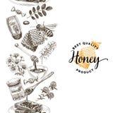 Vectorhand getrokken honingsillustratie stock illustratie