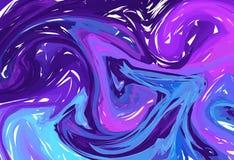 Vectorhand getrokken kunstwerk op water marmeren textuur Vloeibaar verfpatroon Abstracte Multi Blauwe achtergrond in ebrusuminaga royalty-vrije illustratie