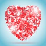 Vectorhartillustratie voor de Dag van Valentine Stock Afbeelding