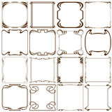 Vectorhoeken om een kader tot stand te brengen Royalty-vrije Stock Afbeeldingen