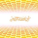 Vectorhoningraatachtergrond van geel aan wit Royalty-vrije Stock Fotografie