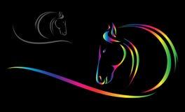 Vectorhoofd van paard vector illustratie