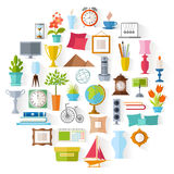Vectorhuisdecor Binnenlands ontwerp Royalty-vrije Stock Foto