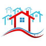Vectorhuizen Real Estate Royalty-vrije Stock Afbeeldingen