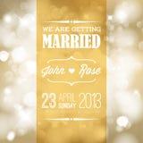 Vectorhuwelijksuitnodiging Royalty-vrije Stock Foto