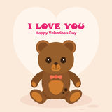 Vectori Teddy Bear St. Valentine's Day Card Royalty Free Stock Photo