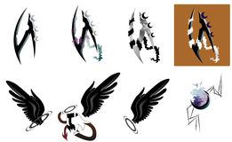 Vectorial art tattoo Royalty Free Stock Images