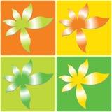 vectorial blommamodell Arkivfoto