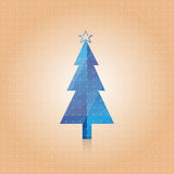 Vectorial blue New Years fur-tree Royalty Free Stock Image