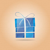 Vectorial blue New Years gift Royalty Free Stock Photography