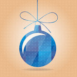 Vectorial blue New Years toy Royalty Free Stock Images