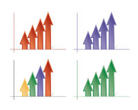 Vectorial coloured arrows Royalty Free Stock Photo