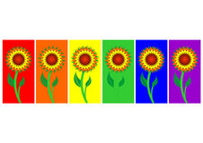 Vectorial flower pattern Royalty Free Stock Images