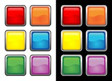 Vectorial glass buttons Stock Photo