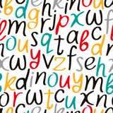Vectorial seamless pattern of letters of the alphabet Stock Photos