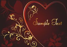 Vectorial silhouette of heart Royalty Free Stock Photo