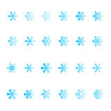 Vectorial snowflake set Royalty Free Stock Images