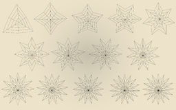 Vectorial Sterne Lizenzfreies Stockbild