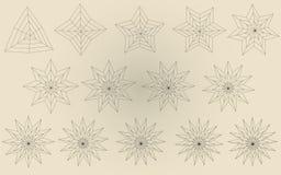 Vectorial sterren Royalty-vrije Stock Afbeelding