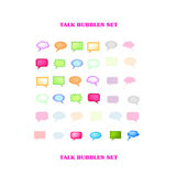 Vectorial Talk Bubbles Set Royalty Free Stock Photos