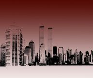 Vectorial urban landscape. Urban landscape New York - illustrated Royalty Free Stock Photography