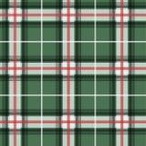 Vectorilllustration van het groene geklets van de geruit Schots wollen stofstof Stock Afbeeldingen