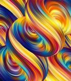 Vectorillustratie: 3d Abstracte vloeibare achtergrond met kleurrijke vloeistoffen vector illustratie