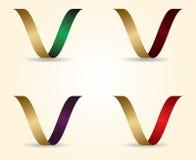 Vectorillustratie 3D brief van V-Ontwerp Royalty-vrije Stock Afbeeldingen