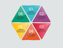 Vectorillustratie de bedrijfs van Infographics Royalty-vrije Stock Foto