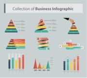 Vectorillustratie de bedrijfs van Infographics Stock Foto's