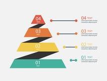 Vectorillustratie de bedrijfs van Infographics Stock Afbeelding