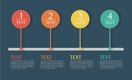 Vectorillustratie de bedrijfs van Infographics Stock Afbeeldingen