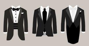 Vectorillustratie drie kostuums Stock Foto