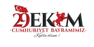 Vectorillustratie 29 ekim Cumhuriyet Bayrami Stock Foto