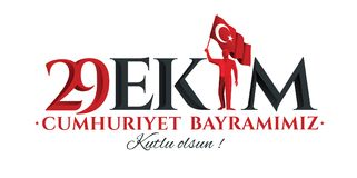 Vectorillustratie 29 ekim Cumhuriyet Bayrami Royalty-vrije Stock Afbeelding