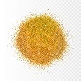 Vectorillustratie gouden fonkelingen op transparante achtergrond schitter achtergrond Gouden achtergrond voor kaart, exclusief vi Royalty-vrije Stock Fotografie