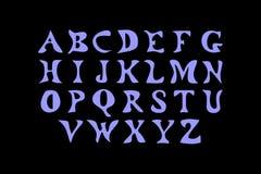 Vectorillustratie het Latijnse alfabet Stock Fotografie