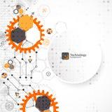 Vectorillustratie, hi-tech digitale technologie en techniek, vector illustratie